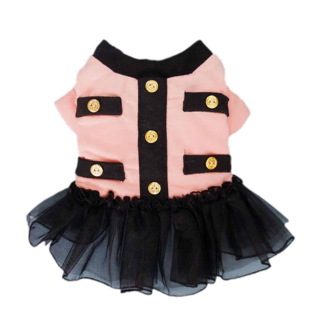 Amazon.com: Graceful Pink Dog Tutu Dress Dog Coat Cozy Dog Dress Dog ...
