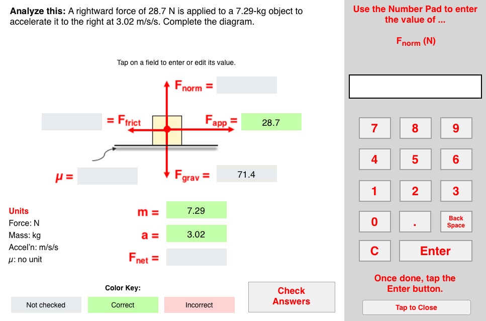 Solve It! (with Newton's Second Law) Concept Builder: this ...