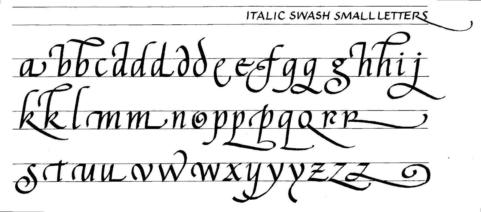 italic swash minuscules | chancery cursive | pinterest | calligraphy