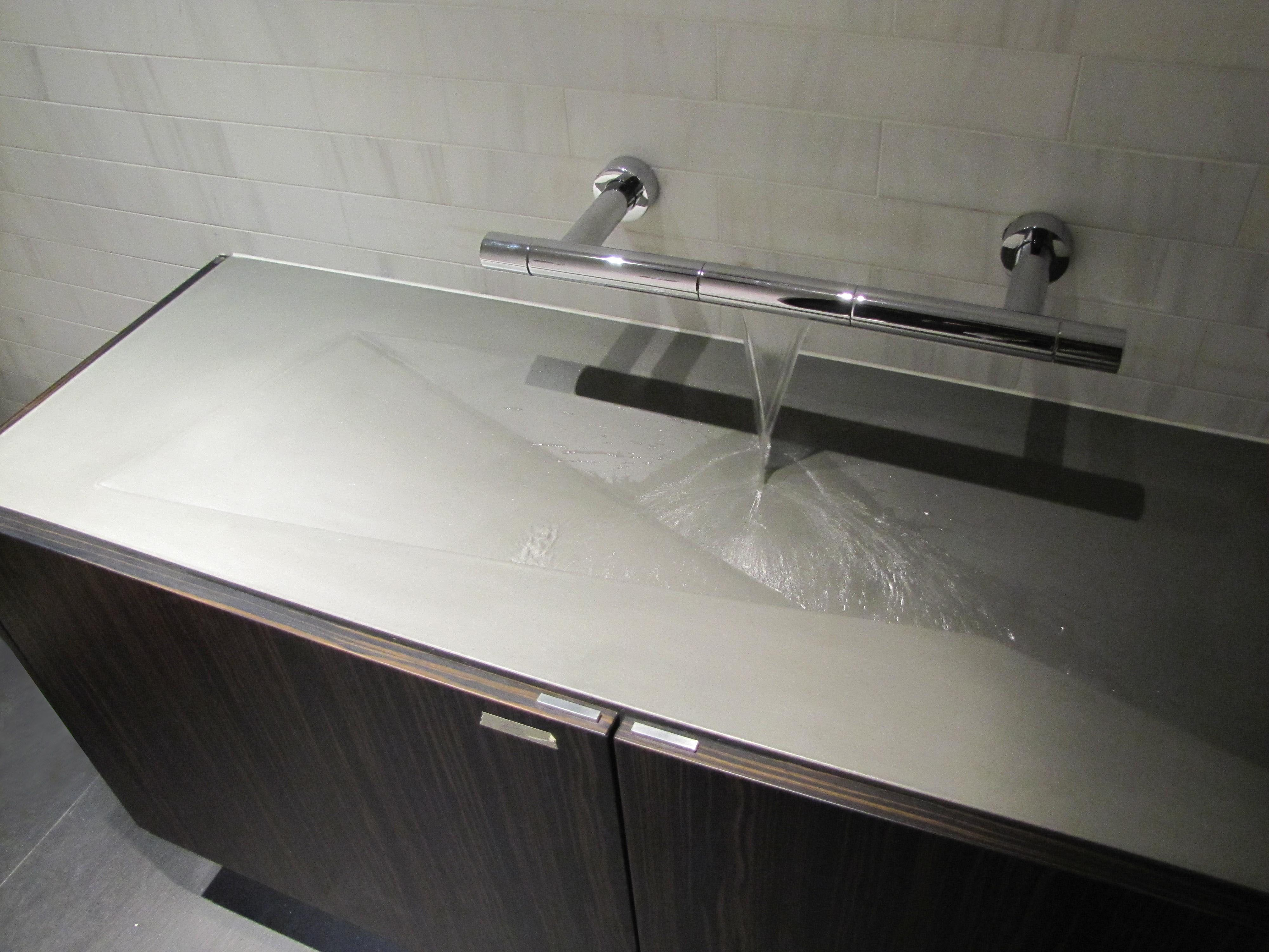 Custom made concrete sink Designed and fabricated by Concrete