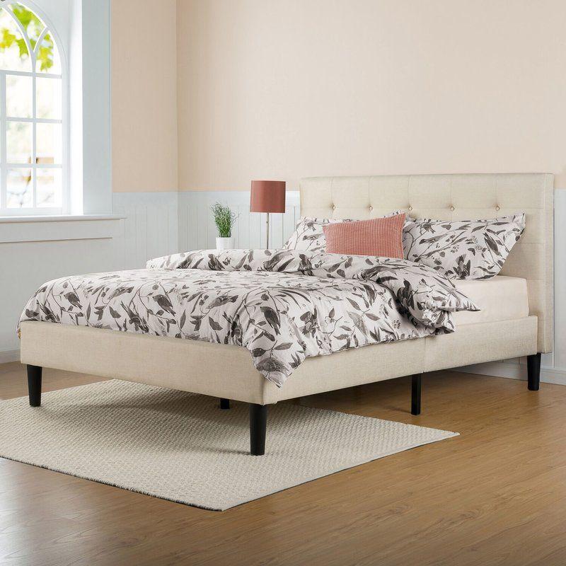 upholstered bed frame   Apartment   Pinterest