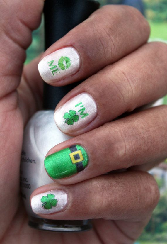 I'm Irish! St. Patty's Day Nail Art Decals by NailSpin, $5.00 - Kiss Me! I'm Irish! St. Patty's Day Nail Art Decals By NailSpin