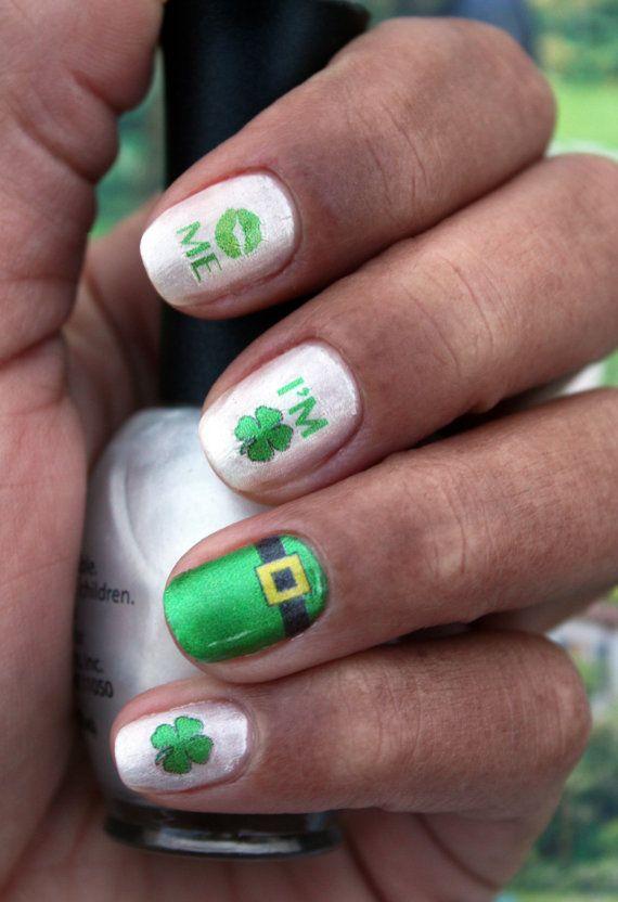 Kiss Me! I\'m Irish! St. Patty\'s Day Nail Art Decals by NailSpin ...