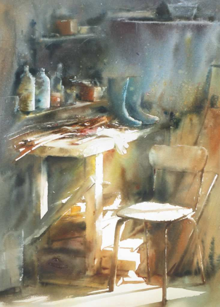 Michel Rabault Watercolor Painting Avec Images Dessin Nature