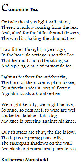a cup of tea by katherine mansfield