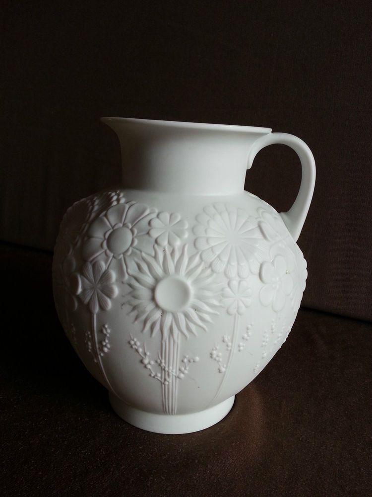 kaiser porzellan vase wei biskuitporzellan kugelvase 17 cm wei e vase white in a. Black Bedroom Furniture Sets. Home Design Ideas