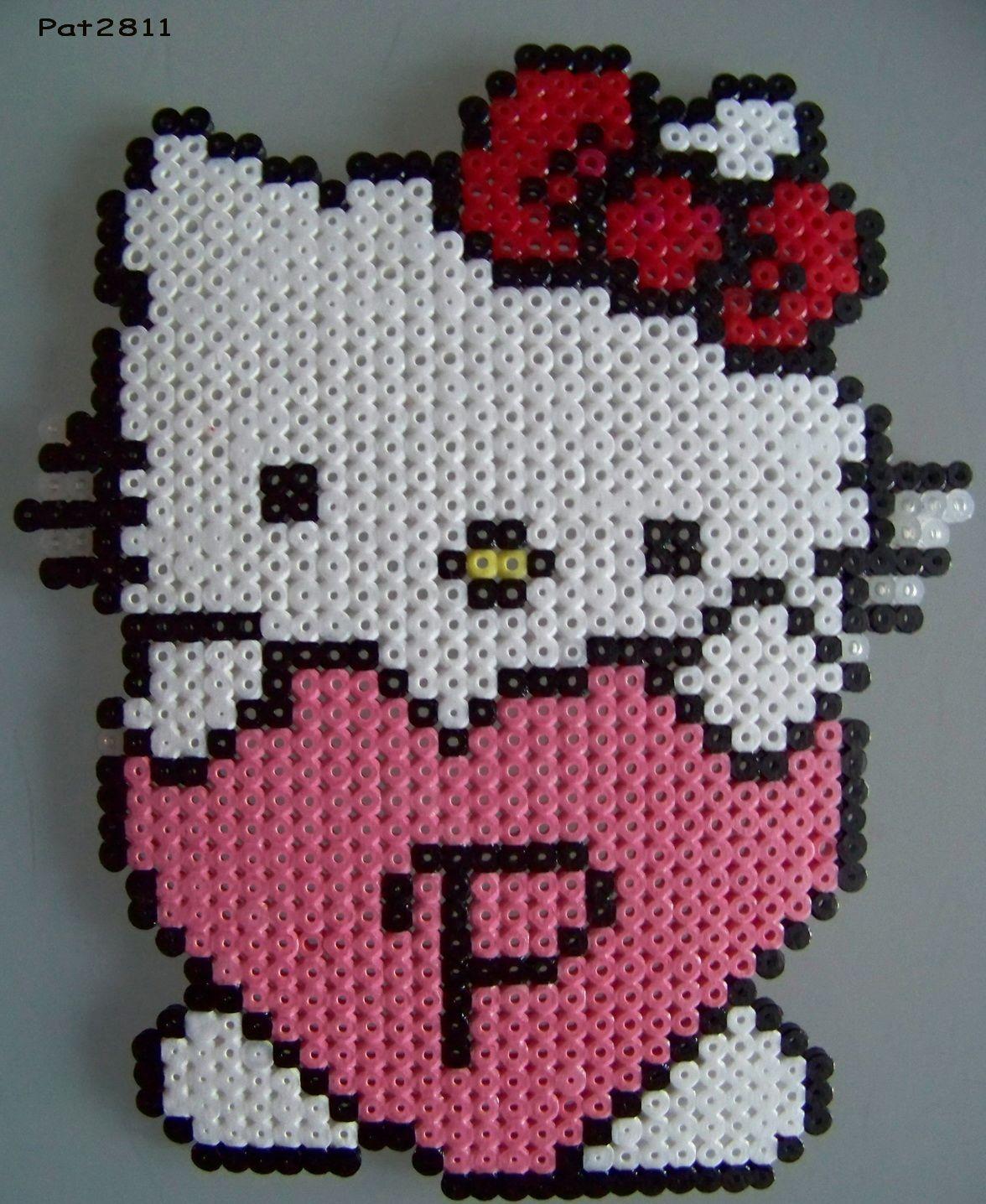Perles a repasser hello kitty perles chlo perle a repasser modeles perle hama modele et - Modele hello kitty ...