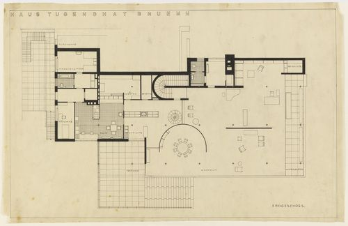 4ad8602e05e0be0de0f4999384bc2d69 Tugendhat House Floor Plan Diions on