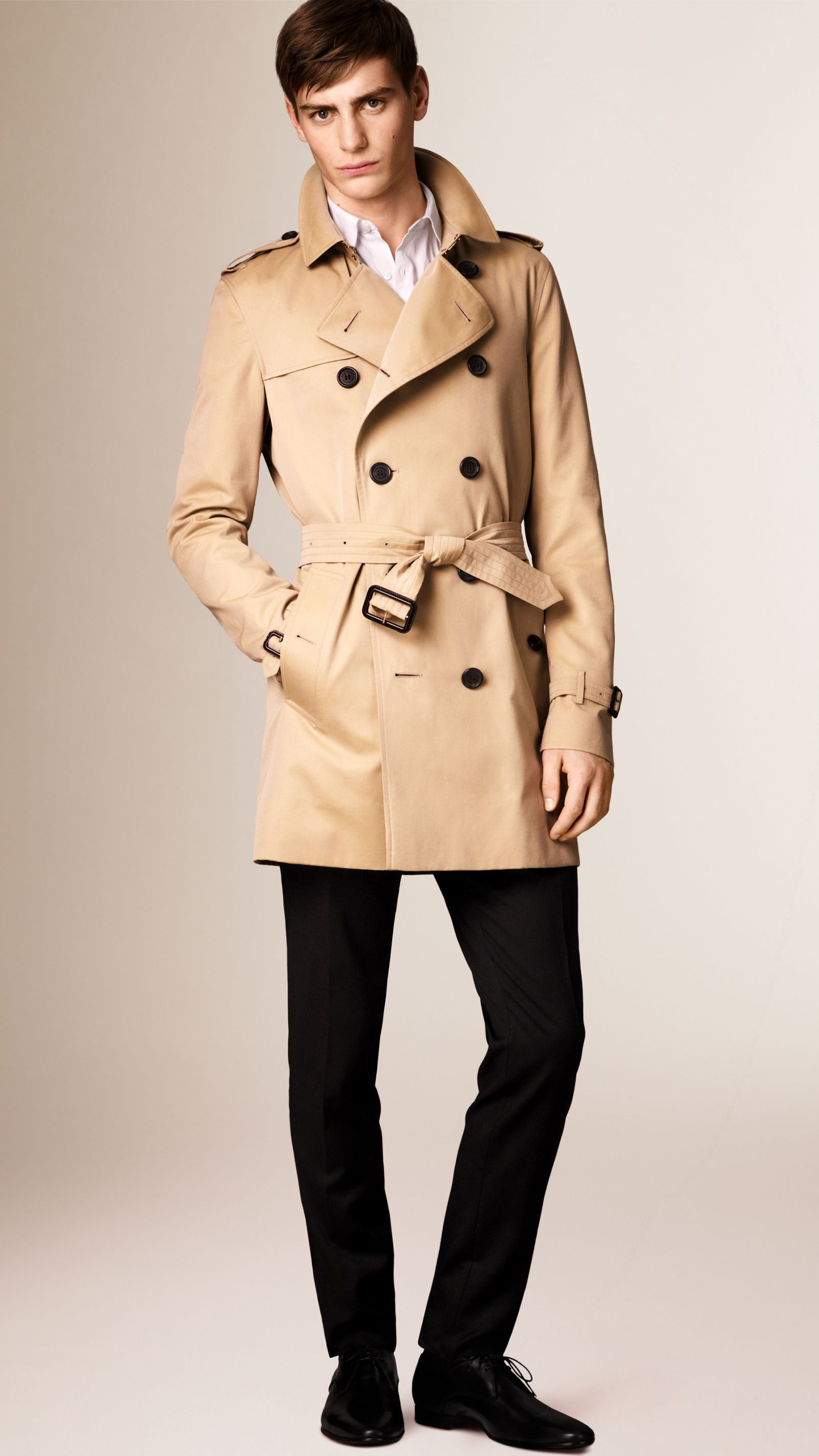 b31f5c4a8b0f The Kensington – Mid-length Trench Coat in Honey - Men