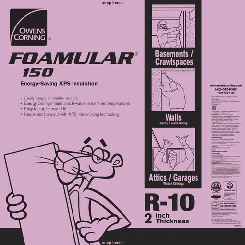 Owens Corning Foamular Extruded Polystyrene Insulation 2 X 4 X 8 R 10 At Menards Foam Insulation Board Extruded Polystyrene Insulation Insulation
