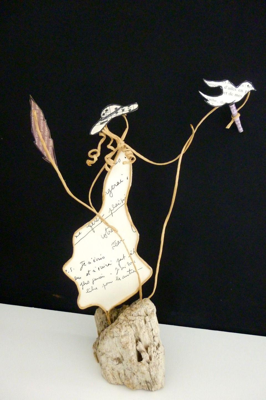 Lettre à Maman Figurines En Ficelle Et Papier