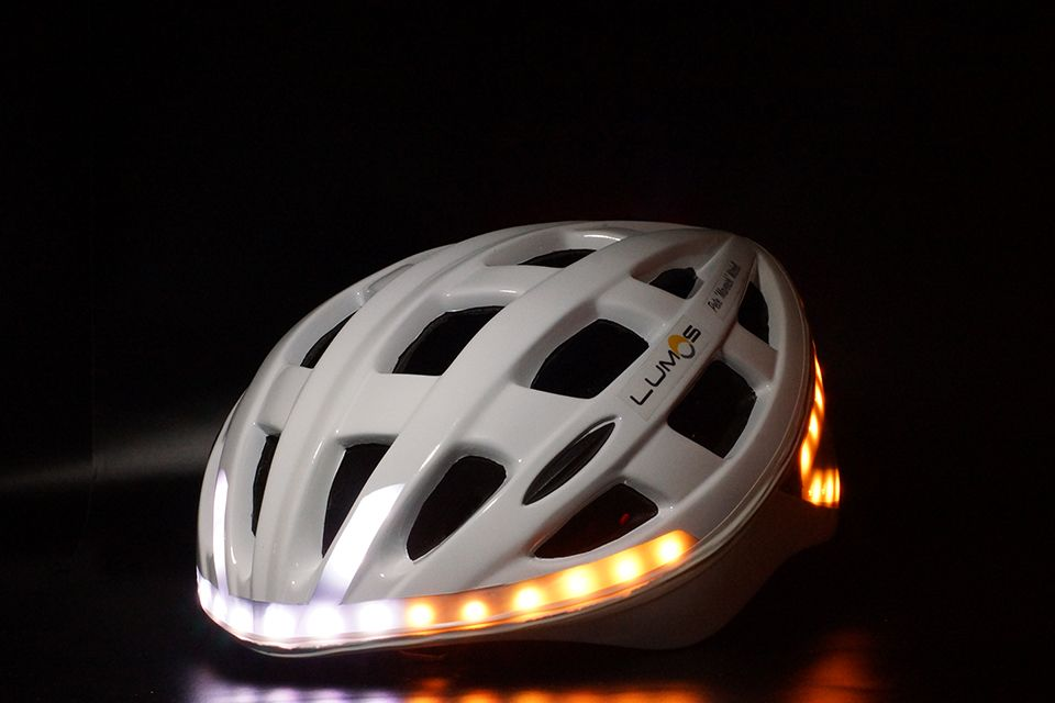 09ba2337bf0 Lumos Bicycle Helmet. 60 embedded LED lights on its front