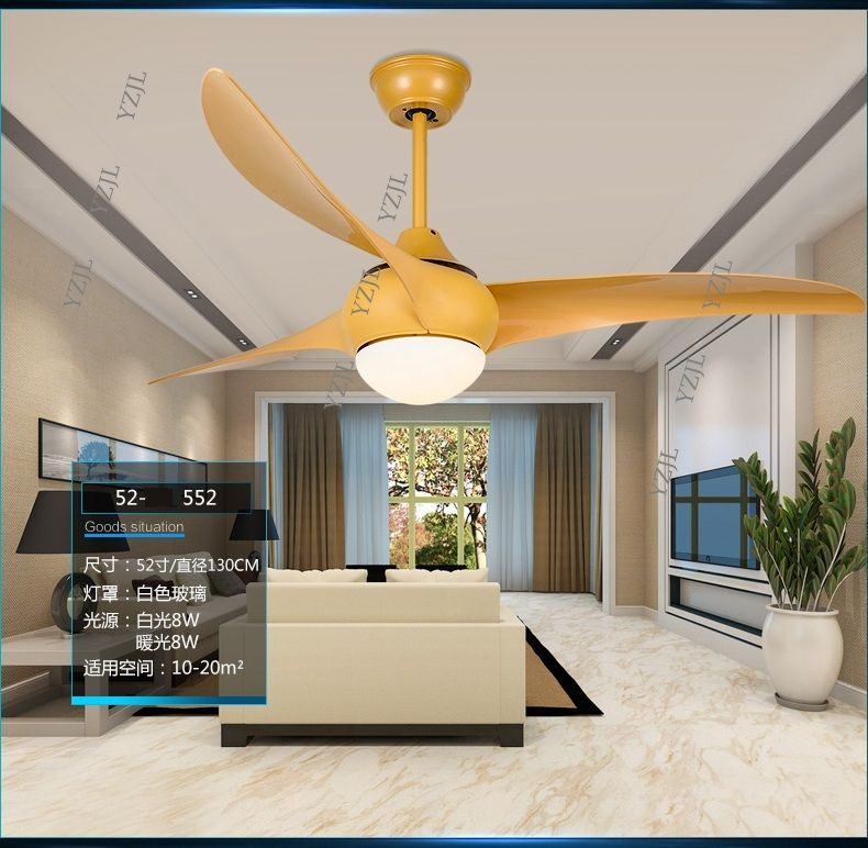 Simple fashion LED remote control ceiling fans ceiling fan light