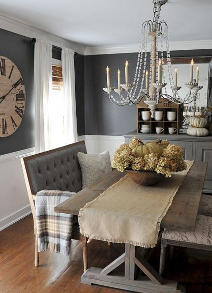 Lasting farmhouse dining room table and decorating ideas (1