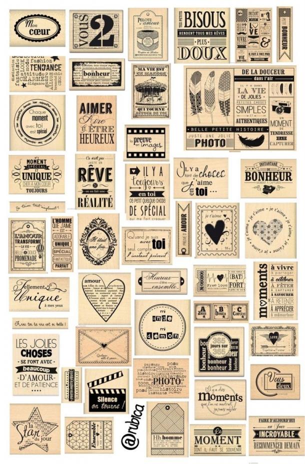 Je Lui Dirai Les Mots Bleus Scrapbooking Scrapbooking Vintage In 2020 Scrapbook Stickers Printable Bullet Journal Stickers Journal Stickers