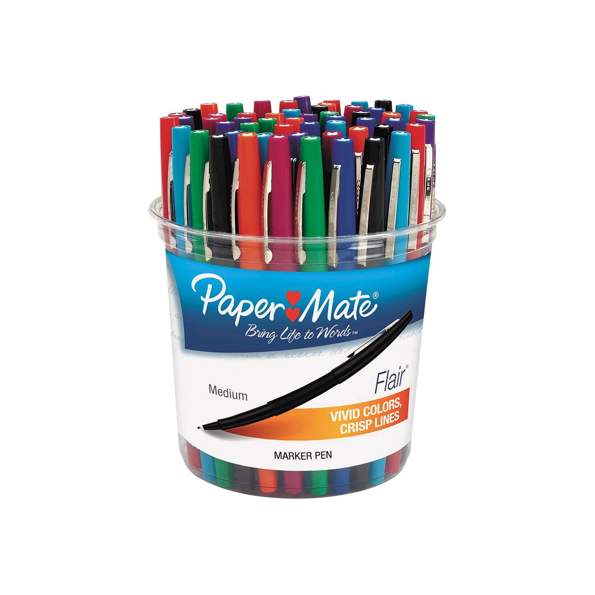 Paper Mate Flair Felt Tip Marker Pen Assorted Ink Medium 48
