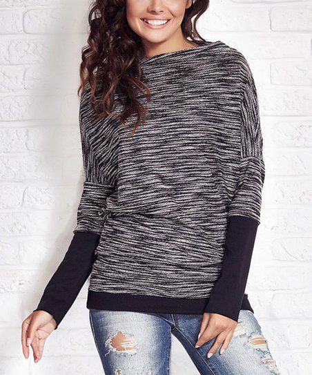 Awama Ecru Boatneck Sweater | zulily