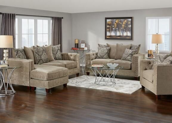 Newcastle 3 Pc Sofa Chaise L R Platinum Living Room Living Room Sets Living Room Living Room Sets Furniture