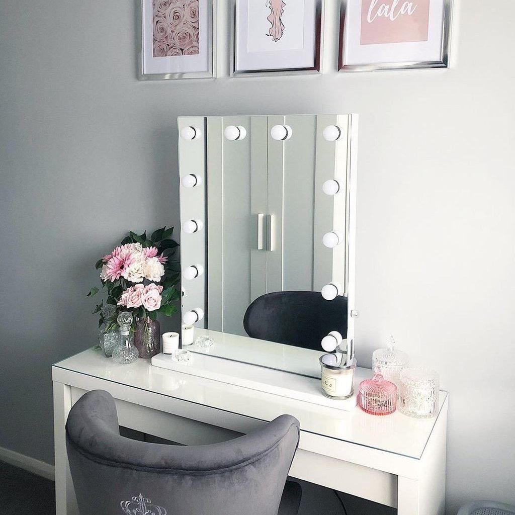 Alicia Hollywood Style Mirror with Lights 80 x 60cm в 2020