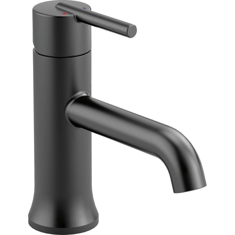 Delta Faucet 559LF-BLLPU Trinsic Matte Black One Handle Bathroom ...