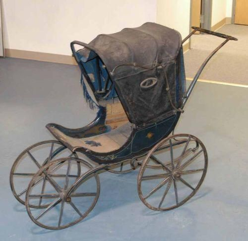 Black Antique Pram C 1900 Antique And Vintage Baby