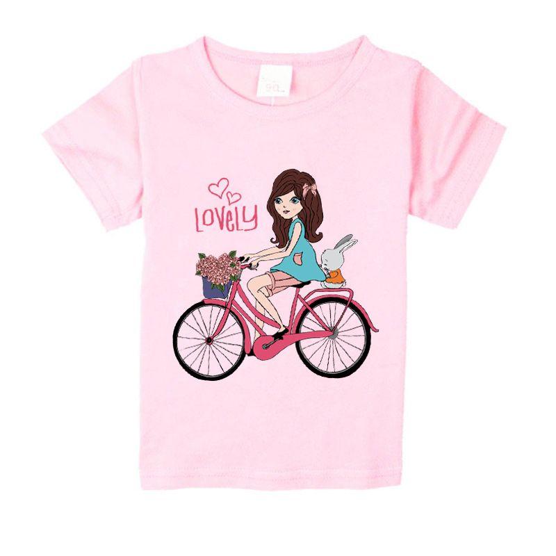 1-15 years children summer clothing girls tops kids lovely girl patterns t shirt children t-shirts short sleeve