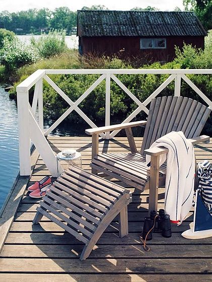 Superieur (via Cabin Fever / Ikea Adirondack Chairs)