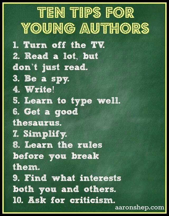suggestions for writing a book
