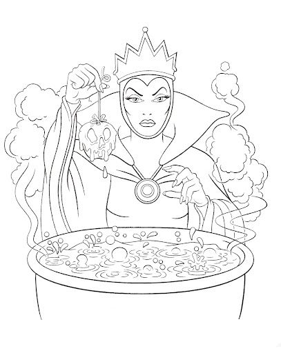 disney villains coloring book pages - photo#32