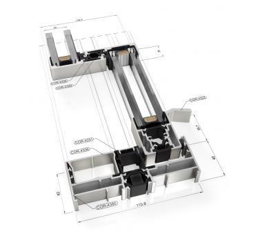 Cor Vision Sliding Minimal Windows Acoustic Insulation Sliding Windows