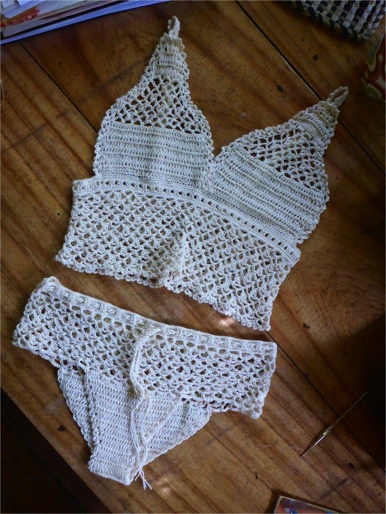 Touch Temptair Camisole And Underwear Crochet Crochet Crochet