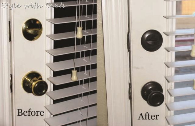 Oil Rubbed Bronze Spray Paint Hardware Doorknobs Before