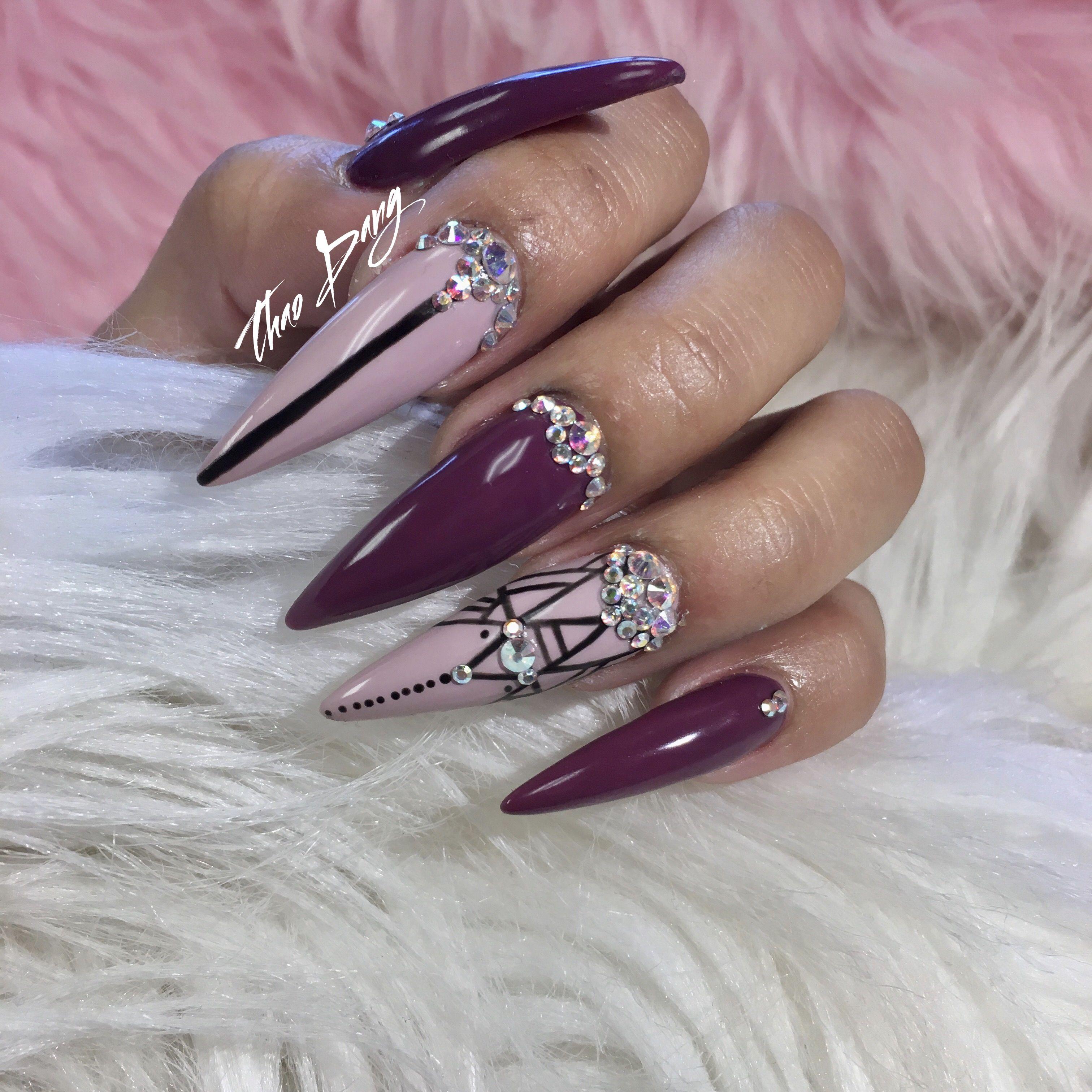 Nail Art with Swarovski crystals