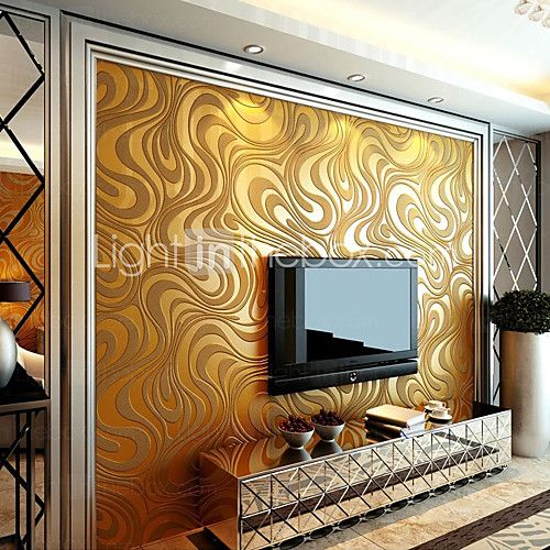 Contemporary Wallpaper Art Deco 3D Sprinkling Gold Abstraction ...