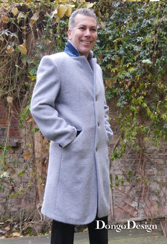 PDF sewing Pattern Mens-coat Gregor with hood, e-book sewing ...