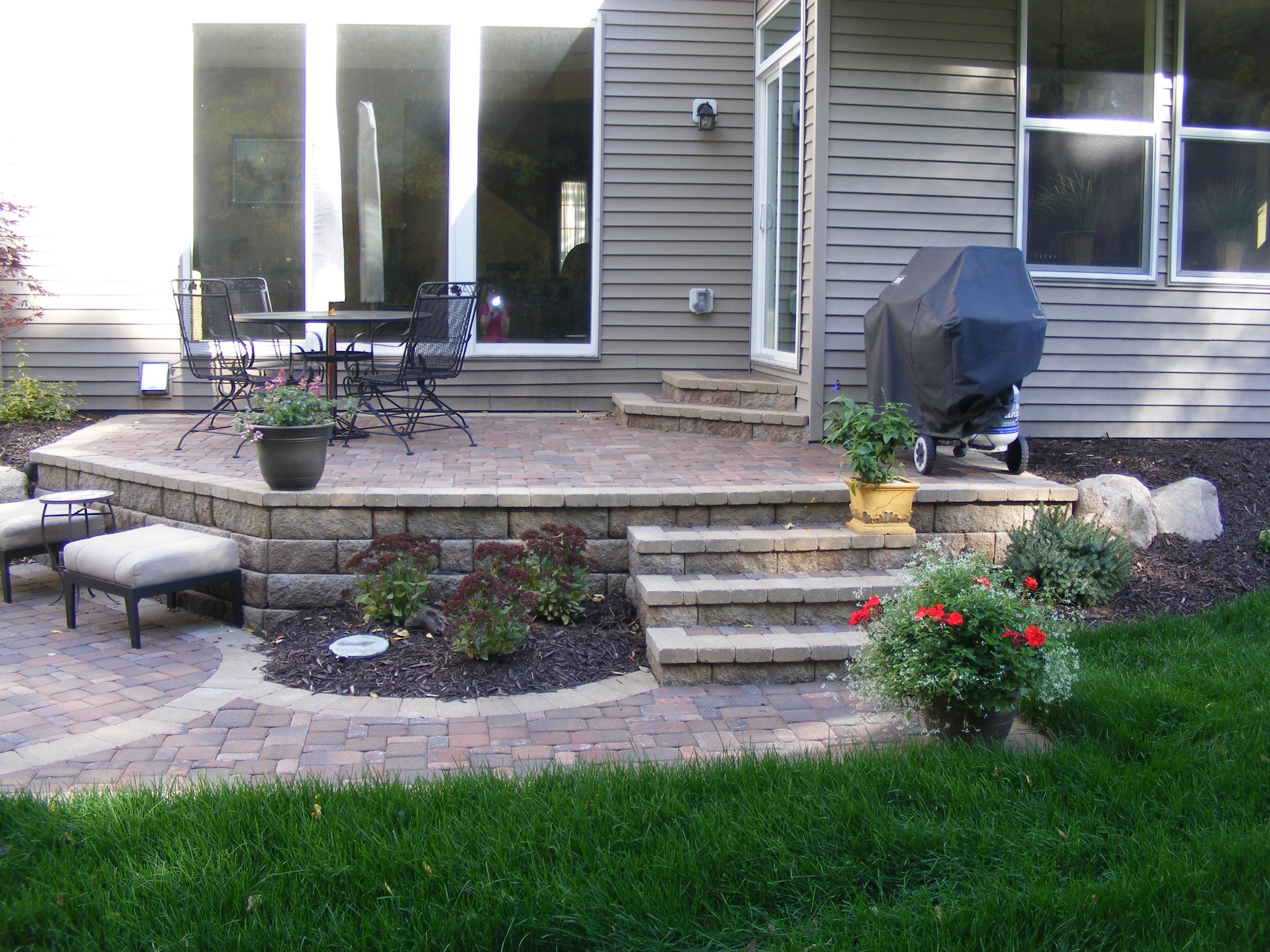Delightful Multi Level Paver Patio