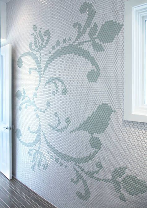 sneak peek: office   Mosaics, Penny tile and Tile design