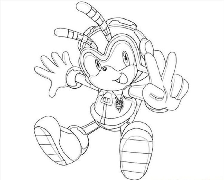 Charmy Bee Coloring Pages Bee Coloring Pages Pokemon Coloring Pages Dragon Coloring Page