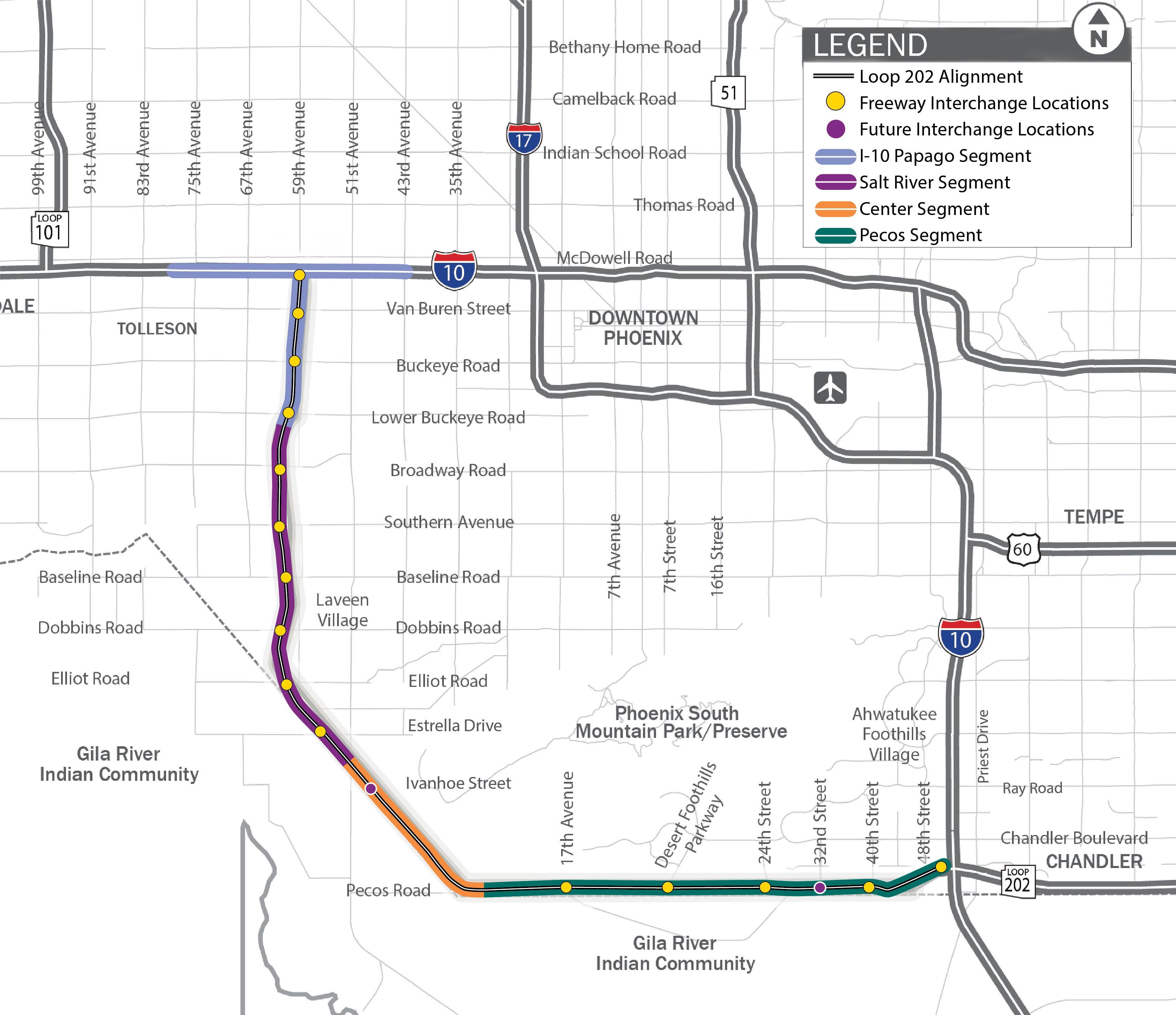 South mountain 202 freeway phoenixchandler opens