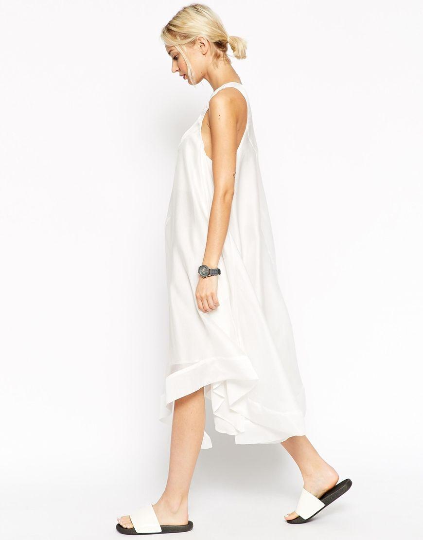 Asos White Technical Trapeze Dress At Asos Com Modestil Kleiderstile Kleider [ 1110 x 870 Pixel ]