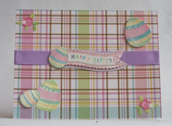 Happy Easter Spring Plaid - Easter Card