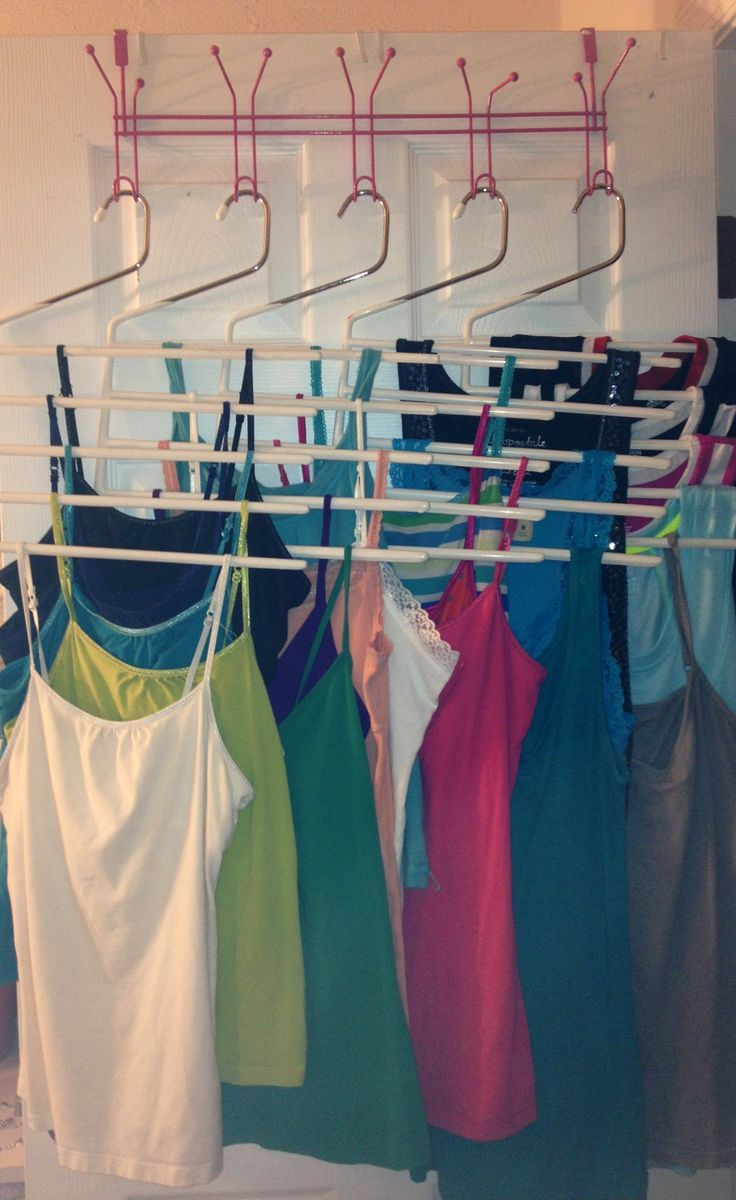 Organizing Your Tank Tops Your Over The Door Rack