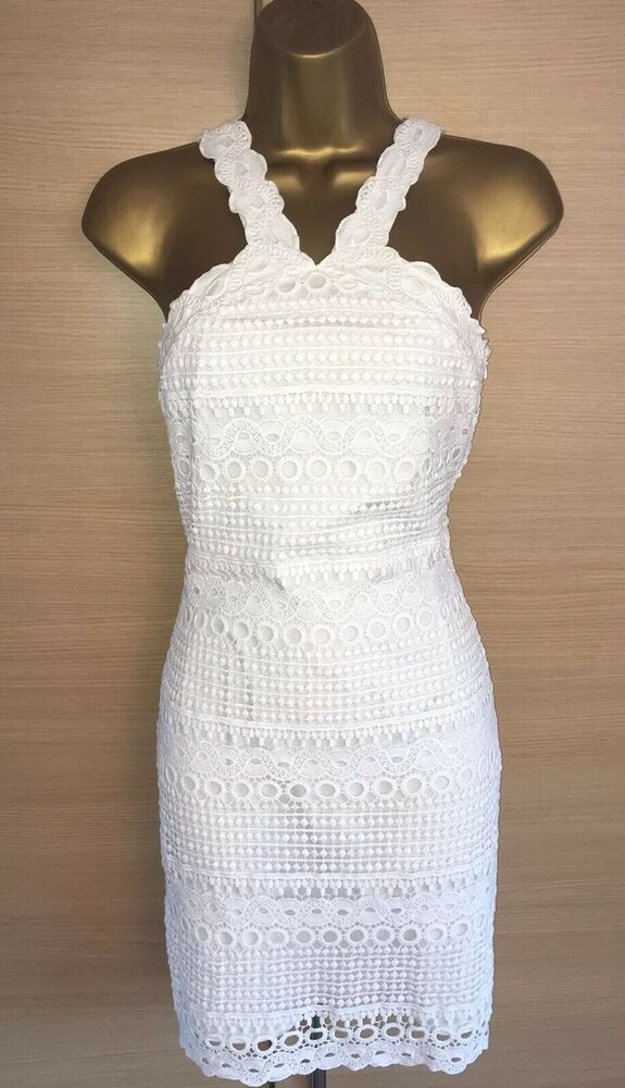 cf0b19d3cd4 Exquisite Karen Millen Brand New White Broderie Anglaise Summer Dress UK8   fashion  clothing