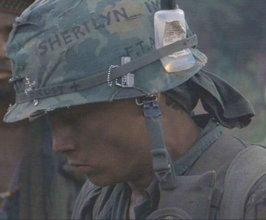 Image result for platoon movie helmet messages