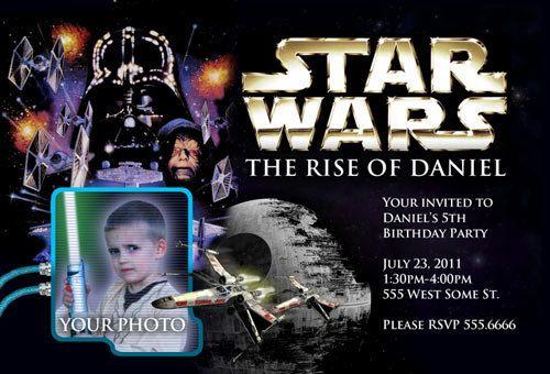 Star Wars Birthday Invitations Inivte CUSTOM By Teddyted55 On Etsy 1399