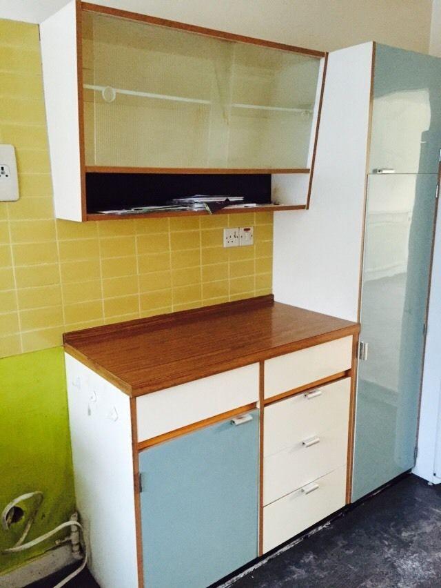 Wrighton California Vintage Tall Kitchen Unit 1950 s 1960 s Retro ...