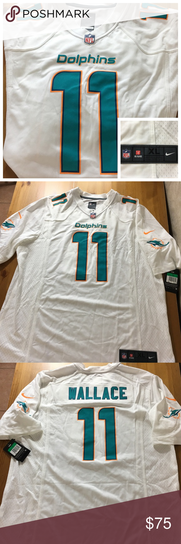 Nike Miami Dolphins NFL  11 Mike Wallace Jersey New with Tags! Miami  Dolphins NFL a2af442a5