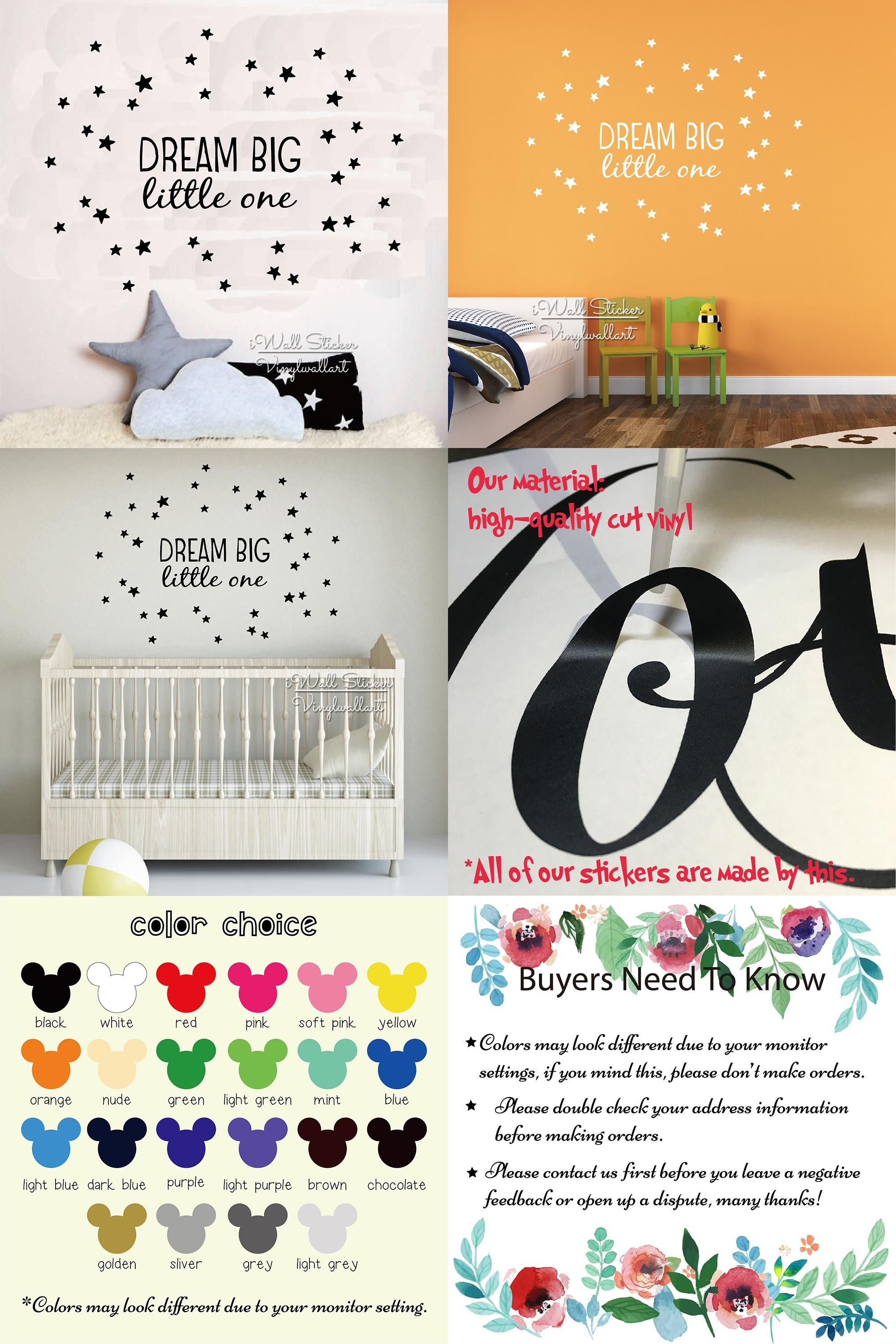 Visit to buy dream big little one quote wall sticker kids wall visit to buy dream big little one quote wall sticker kids wall quotes decals amipublicfo Images