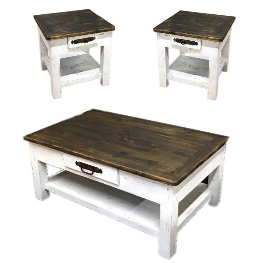 Gatlinburg Coffee Table Set In 2021 Coffee Table Farmhouse Farmhouse Living Room Table Farm House Living Room [ 898 x 898 Pixel ]