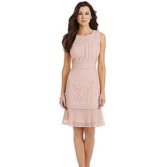 4e62a758a71 Antonio Melani Floral Lace Dress Beautifully detailed Lace pattern. Blush  Pink. Back zipper. Never Worn-Brand New! True to size.